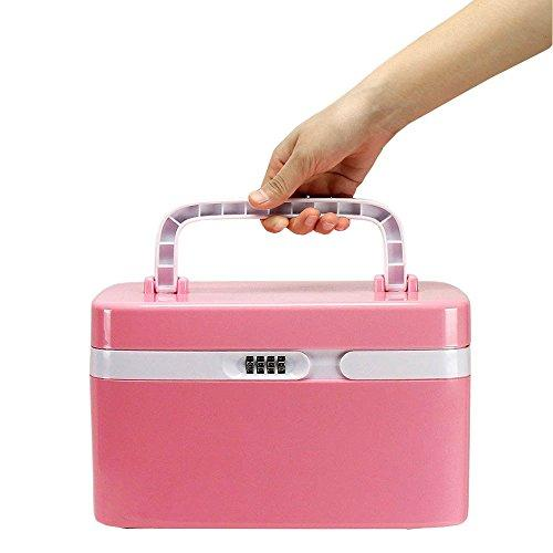 Locking Medicine Cabinet, EVERTOP Household First Aid Kit Locking  Prescription Pill Case Storage Box with Compartments for Jewelry Cosmetics  Cards