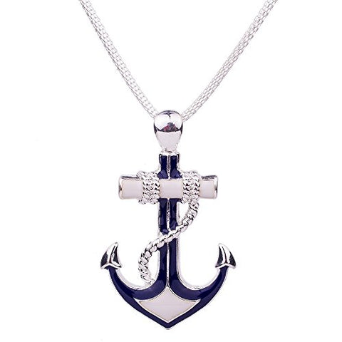 Fashion Jewelry Sets Necklace Sets For Women Jewelry Silver Plated Antique Unique Anchor Design Party Gift