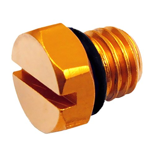 iFJF Billet Aluminum Air Bleeder Screw Replacement for GM 2001-2017 Duramax Diesel Fuel Filter(Gold)