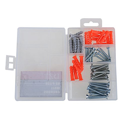 Best Garden Tools 62pcs/Set 17mm Wall Expansion Screw Self-Tapping Small Fix Screw Plug Pipe Plastic Wall Mounted Expansion with Box