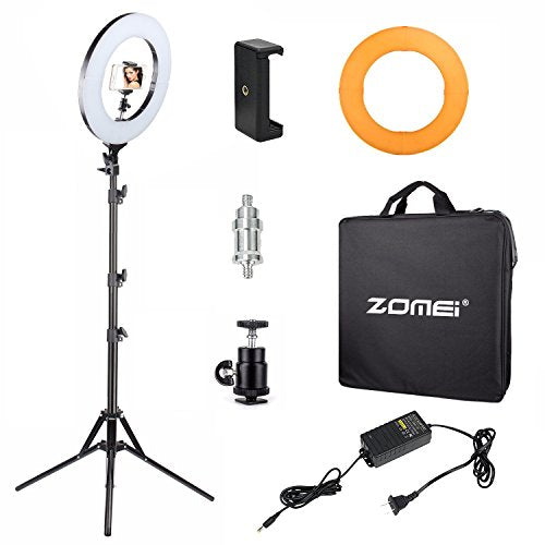 Zomei 14-inch Dimmable Ring Light Lighting Kit with Light Stand, Ball Head for Portrait Makeup Photography YouTube Studio Video Shooting