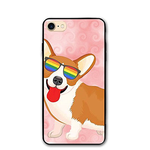 Celclin Dog With Colorful Sunglasses IPhone 8 Case For Mens / Womens