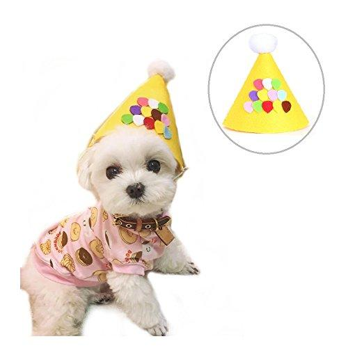Stock Show Pet Birthday Cone Hat Dogs Cats Christmas Holiday Party Headwear Costume With