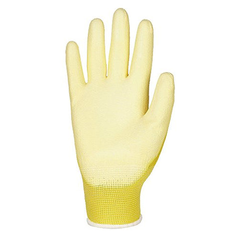 [3-Pack] ILM Safety Work Gloves Ultimate Grip For Garden Fishing Electrician Automotive Kids Women Men (M, YELLOW)