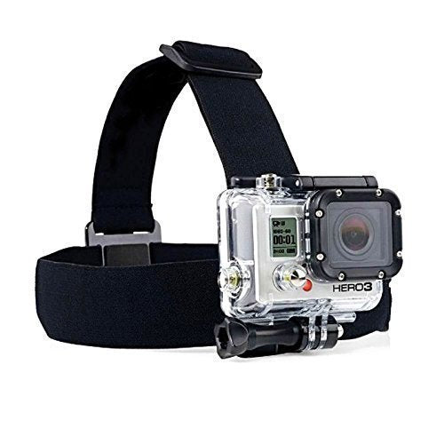 Zoukfox Head Strap Camera Mount + Quick Clip Compatible fit for GoPro HERO5 Black, HERO5 Session, HERO4 Black, HERO4 Silver and HERO Sessio and most action cameras (head)