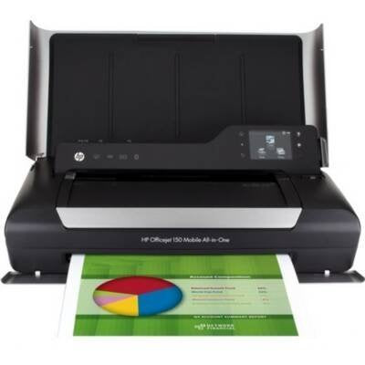 HP Officejet 150 Inkjet Mobile All-in-One Printer - Printer Scanner Copier - Color - Plain Paper Print - 600 x 600 dpi Print - Touchscreen - 600 dpi Optical Scan - Manual Duplex Print - Bluetooth - PictBridge - USB - Desktop