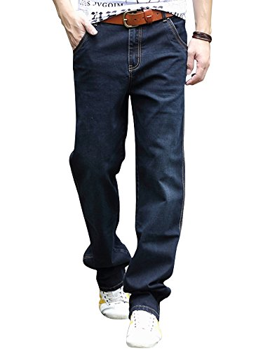 YOYEAH Men's Wear Leisure Loose Straight Jeans 30 blue