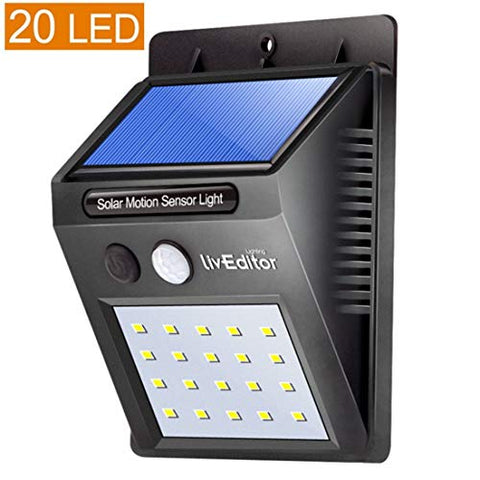 ZHIXIANG 2Pcs LED Solar Lamp Waterproof 2835smd 20led Solar Light Powered Garden LED Solar Light Outdoor ABS Wall Lamp Stairs Lights, Warm Light
