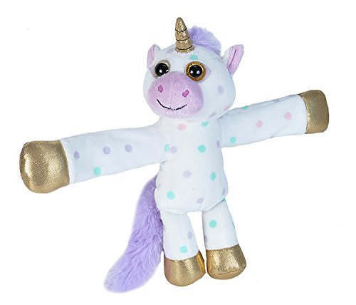 Wild Republic Huggers Unicorn Plush, Slap Bracelet, Stuffed Animal, Kids Toys, Unicorn Party Supplies, 8 inches