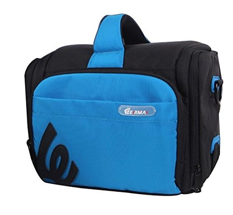 ZORROO DSLR Camera Waterproof Shoulder Messenger Bag CASE - for Canon EOS SL1 T6s T6i T5i T5 T4i T3i T3 T2i 70D 60D 7D Mark II 5DS 5DS R Digital Camera and XC10 and More DSLR Cameras (BLUE)