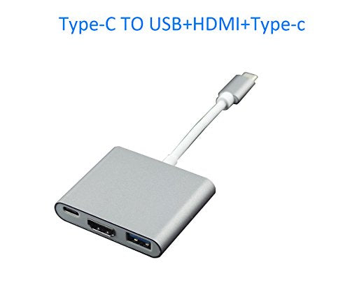 This Good Rate USB 3.1 Type-C To HDMI Adapter 4K+USB 3.0+USB-C Converter Cable Digital USB Charging Cable with Large Projection for Network Card,Card Reader, U Disk and Mouse