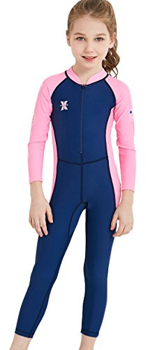 DIVE & SAIL Kids One Piece Long Sleeve Swimsuit Sun Protection Sunsuit Wetsuit