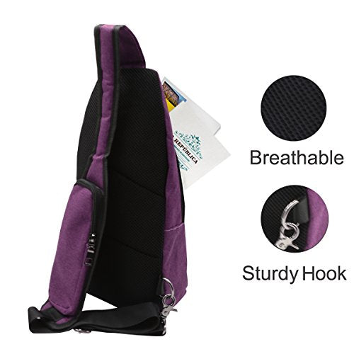 0888eb3308e Mosiso Sling Backpack, Polyester Durable Chest Shoulder Unbalance Gym Fanny  Lightweight Crossbody Sack Satchel Outdoor