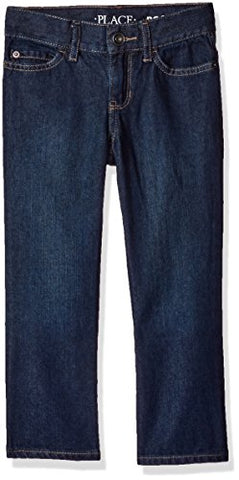The Children's Place Big Boys' Bootcut Jeans, Authentic Wash, 8
