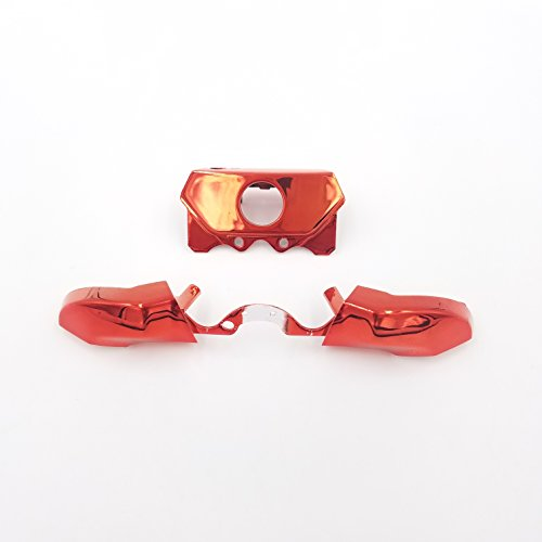 eLUUGIE Replacement Chrome Red Bumpers Trigger+T8 T6 Screwdriver Repair  Tool for Xbox One Controller Elite Bumper Xbox one 3 5mm Repair Parts Xbox  One