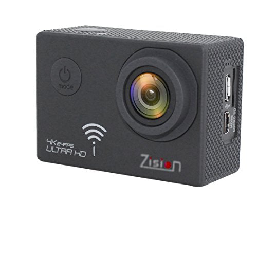 Zision Action camera Real 4K /1080P High Speed WIFI Remote Control Sport Camera 170° Wide-angle Len Sony IMX117CQT COMS Sensor,30M Waterproof