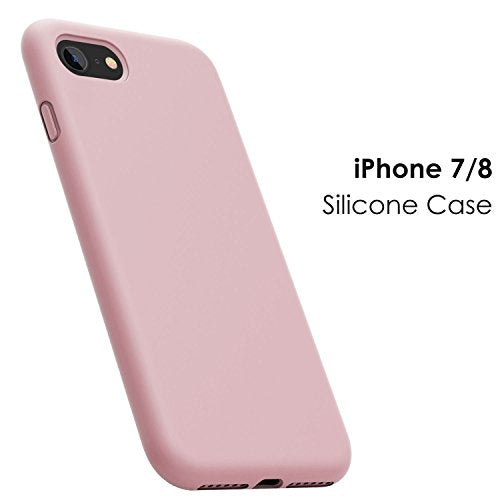 newest collection fe852 6659f iPhone 8 Case, iPhone 7 Case, JASBON Liquid Silicone Phone Case with Free  Screen Protector Gel Rubber Shockproof Cover Full Protective Case for Apple  ...
