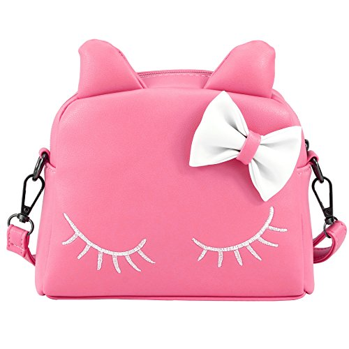 e1be4fb2bd6e CMK Trendy Kids Adorable Bow Cat Purse for Toddler Kids Girls 2-in-1 ...