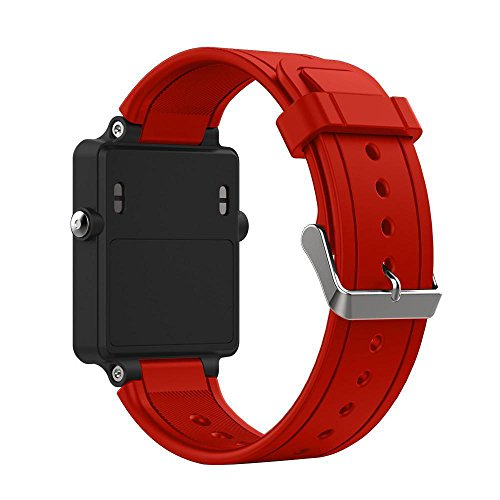 Linkshare Garmin Vivoactive Smart Watch Band, Soft Silicone Replacement Fitness Bands Wristbands With Two Screwdriver (Red)