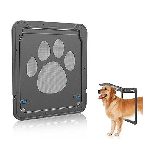 Petetpet Dog Door Cat Doors Pet Screen Door with Magnetic and automatic Lock,Pet,Puppy,Cat,Dog Flap for Exterior Door Sliding Door and Window