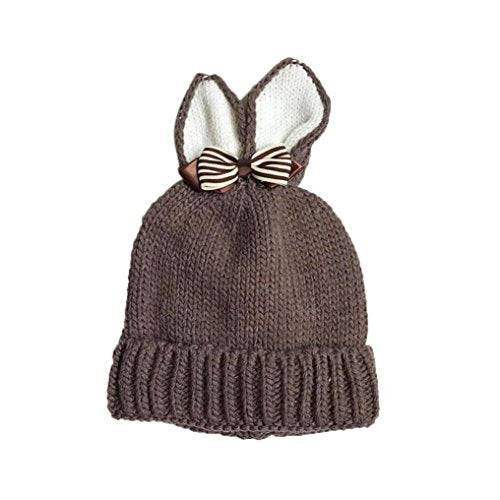 41578aab190 ... usa kids knitted capchangeshopping baby toddler warm cute butterfly  rabbit ears hat 8fd3a 93edb