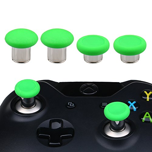 YoRHa 8 in 1 Metal Magnetic Thumbsticks Analog Sticks Joysticks Replacement Repair Kits(green) for PS4/Pro/Slim & Xbox One/Elite/X/S Controller With Screwdrivers