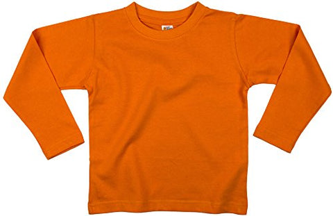 Earth Elements Baby Girls' Long Sleeve T-Shirt 12-18 Months Orange