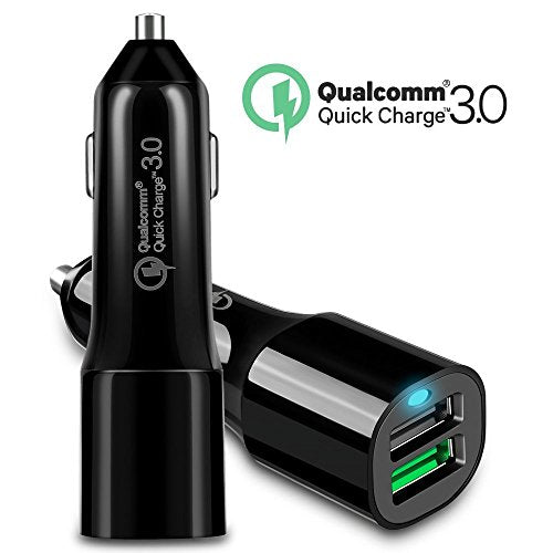 Quick Charge 3 0 Car Charger Dual USB Port with 5Ft Type C Cable for  Samsung Galaxy S8 Active, Sony Xperia Xz Premium,R1,X,Xa1,HTC 10/U11/Play,