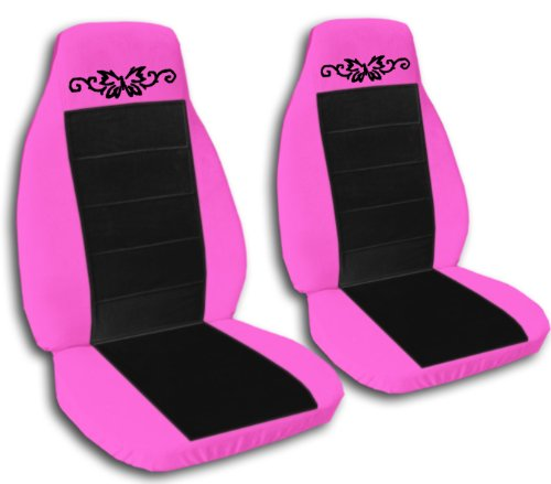 1997 Jeep Wrangler TJ Seat Covers. One Front Set Of Seat Covers. Hot Pink