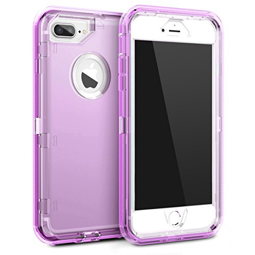 uk availability 9e42e 3ab7b MAXCURY iPhone 8 plus/7 plus/6s plus/6 plus Case, Anti-Shock Hybrid  Protective Clear Phone Case 3 in 1 Dual Layer Shockproof Case for iPhone 6  plus/6s ...