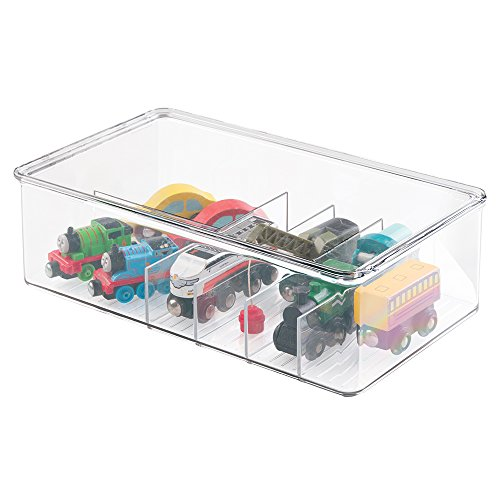 MDesign Kids/Baby Toy Storage Box, For Action Figures, Cars, Crayons,