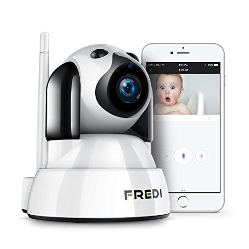 FREDI Wireless Camera Baby Monitor 720P HD Wireless Security Camera With Two-Way Talking,Infrared Night Vision,Pan Tilt,P2P Wps Ir-Cut Nanny ip Camera Motion Detection(update)