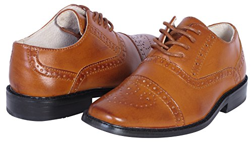2ed01db62434 Joseph Allen Boys Wing Tip Perforated Oxford Dress Shoe