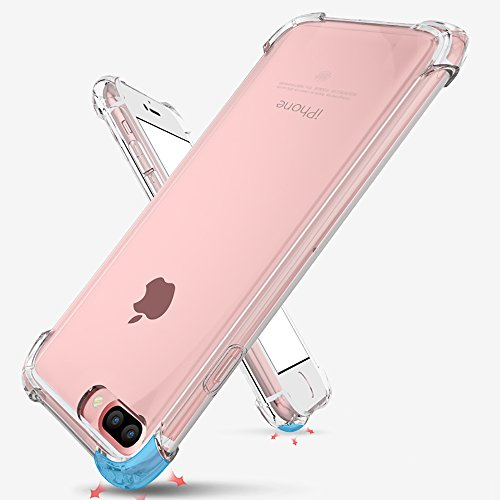size 40 c51fa 8655d iPhone 7 Plus Case, iPhone 8 Plus Case, Matone Apple iPhone 7/8 Plus  Crystal Clear Shock Absorption Technology Bumper Soft TPU Cover Case for  iPhone 7 ...