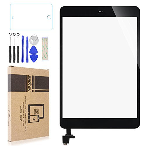 "Touch Screen Digitizer for IPad Mini & Mini 2(7.9"") A1432 A1454 A1455 A1489 A1490,Replacement Parts with IC Chip & Home Button and Cameral Holder,Professional Tools Include(Black)"