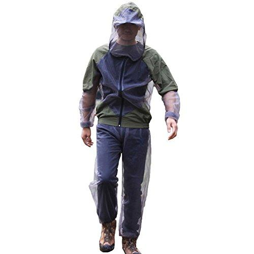 A.B Crew Breathable Mesh Bug Jacket Pants Mitts Lightweight Mosquito Repellent Suit for Hiking Fishing Camping (XXX-Large)