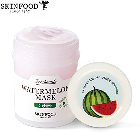 Skinfood Freshmade Watermelon Face Mask - Wash Off Korean Skin Care Facial Mask That Soothes and Hydrates Complexion (90 ml / 4.6 ounces)