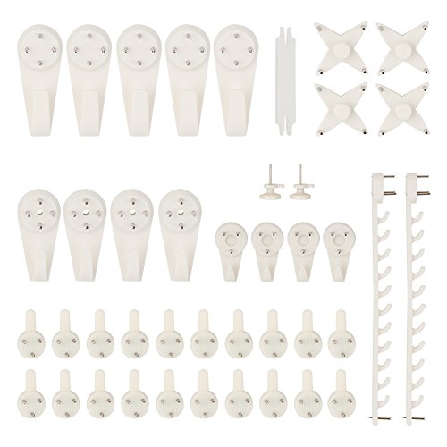 Non Trace Hook Baktoons 43pcs Non Trace Hardwall Drywall Picture