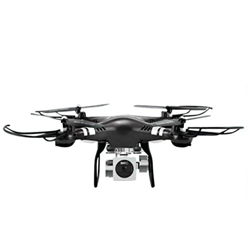 YJYdada RC Quadcopter 1080P Wide Angle Lens 270 Degree Rotating HD Camera Drone FPV Gift (Black)