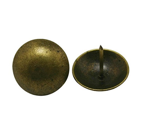 "No Brand Round Large-headed Nail 0.9"" Diameter Color Antique Brass for Sofa Decoration Pack of 20"