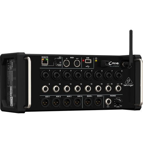 Behringer X Air XR16 16-Input Digital Mixer for iPad/Android Tablets with Wi-Fi and USB Recorder