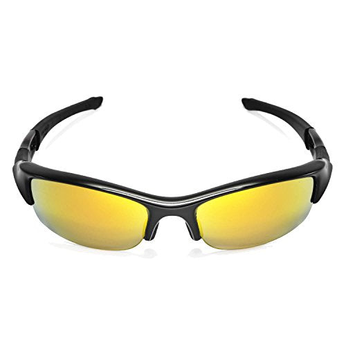a38207650e7f5 Walleva Replacement Lenses for Oakley Flak Jacket Sunglasses -Multiple  Options Available (24K Gold Mirror