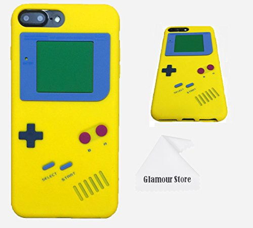 hot sale online b5176 68957 iPhone 7 Plus Case,Retro 3D Game Boy Gameboy Design Style Soft Silicone  Cover Case For Apple iPhone 7 Plus 5.5 inch+ Free Cleaning Cloth As a Gift  ...