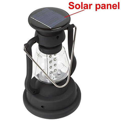 elegantstunning High Power 16 LED Camping Light, Solar Camping lantern With Solar Panel + Hand Crank, Outdoor Portable Lamp For Hiking