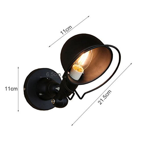 Retro Wall Lights Industrial Adjustable Vintage Wall Lamp Creative Personality Black Wall Sconce With E14 Socket For Restaurants Coffee Shop Club Decoration