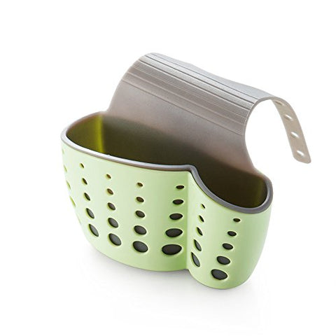 Zehui Sink Drain Bag Hanging Rack Kitchen Sink Shelf Soap Sponge Drain Rack Bathroom Sucker Storage Holder 14.5x5.7x24.5cm Green