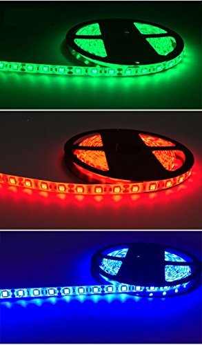 mingjin Smart WiFi LED Rope Light Outdoor Tape Rope With Power Plug  5050-60D Color Changing RGB LED Strip Light With APP 5M DIY For Party  Room,Work