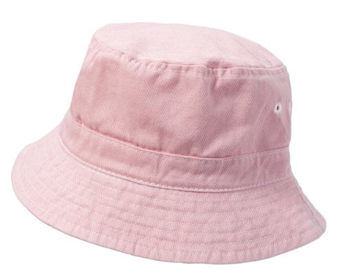 City Thread Big Boys' and Girls' Solid Wharf Hat Bucket Hat for Sun Protection SPF Beach Summer - Pink - XXL(7-12)