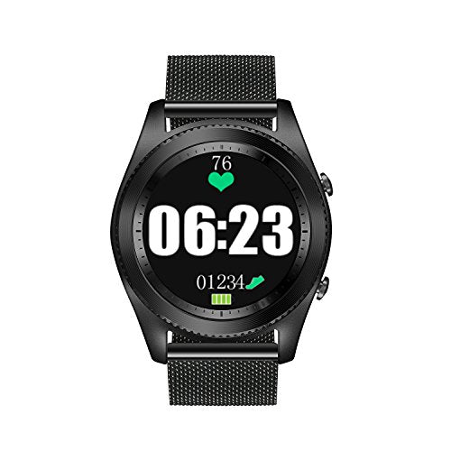 DTNO.I Smart Watch IP67 Waterproof GPS Smart Watch Sports Smart Watch Wearable Devices Multifunction Bracelet Compatible with Android iOS (steel)