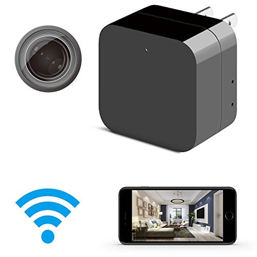Hidden Camera - Spy Camera - HD 1080P - WiFi Remote View with APP - USB  Wall Charger - Support 128GB Micro SD Card - with Motion Detection for Home